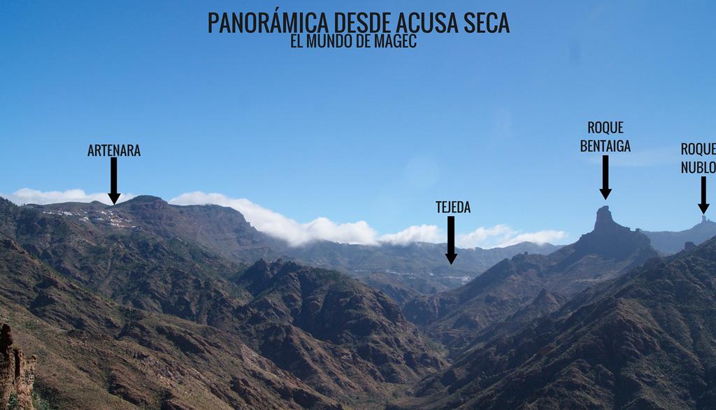 Panoramica desde Acusa Seca, Turismo rural en Canarias